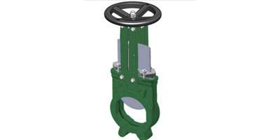 Bi-directional Knife Gate Valves Cast Iron Body Handwheel operated