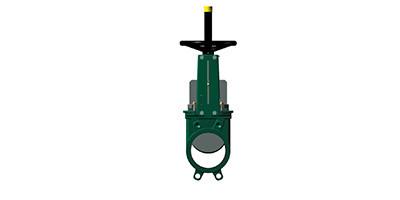 Uni-directional Knife Gate Valves Cast Iron Body Handwheel operated