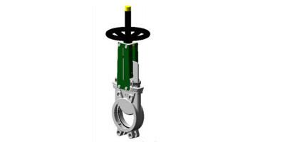 Uni-directional Knife Gate Valves Stainless Body Handwheel operated